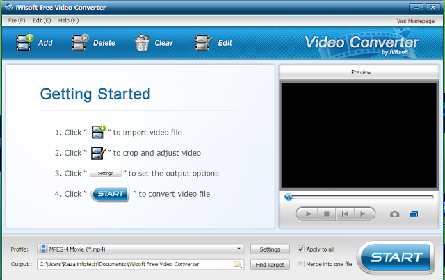 iWisoft Free Video Converter and editor