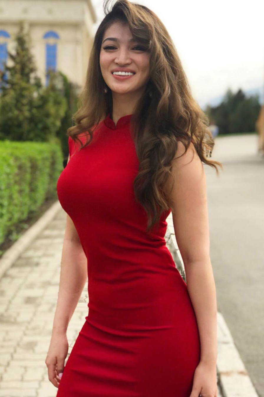 Gulzhan Nakipova OOTD atlet seksi