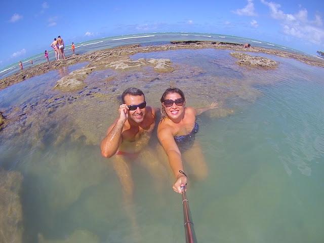 Praia de Carneiros - Di e mor curtindo de montão as piscinas naturais