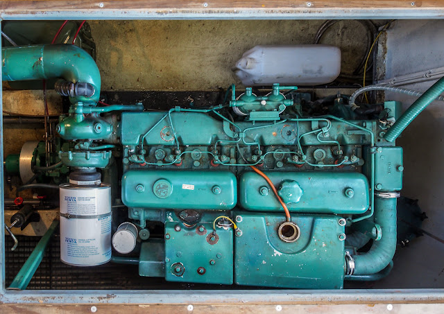 Photo of one of Ravensdale's two 300hp Volvo Penta engines