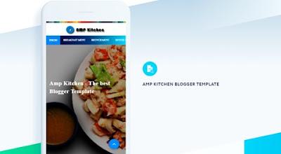 download template blogger amp kitchen