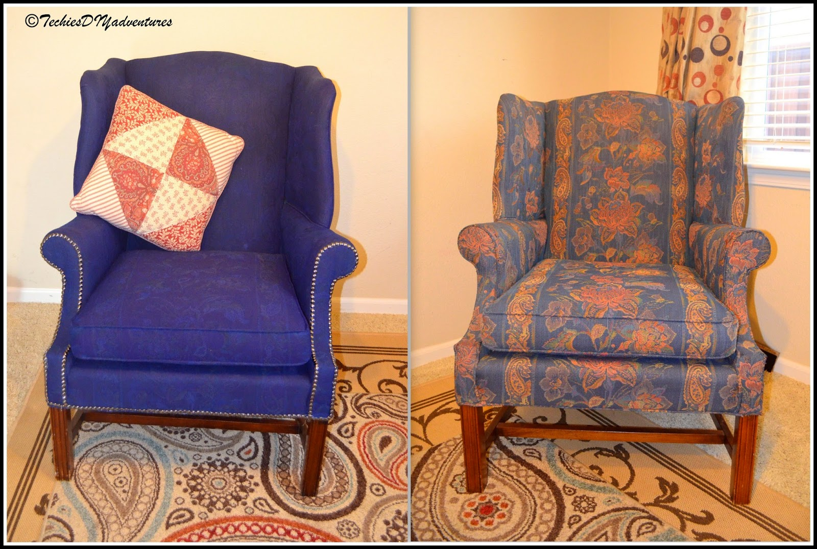 best chair to use after back surgery 2 navy club painted fabric upholstered wing pottery barn