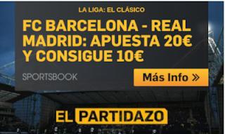 betfair promocion clasico Barcelona vs Real Madrid 28 octubre