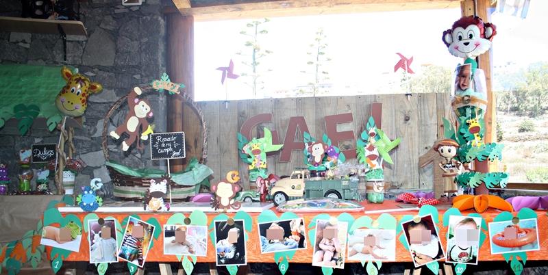 decorar fiesta de cumpleaños animales de la serlva