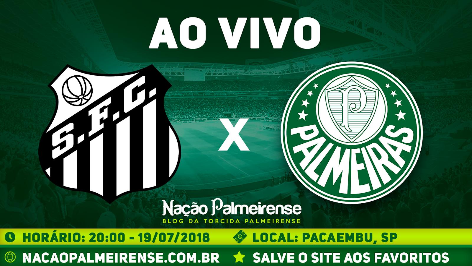 Assistir Santos x Palmeiras ao vivo