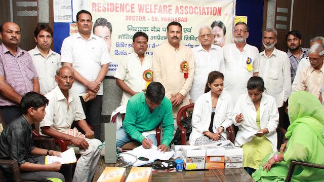 RWA Pradeep Rana free eye check-up camp for Jyotitmas in Sector 55