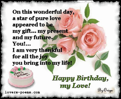 Happy Birthday Wishes And Quotes For the Love Ones: on this wonderful day, a star of pure love