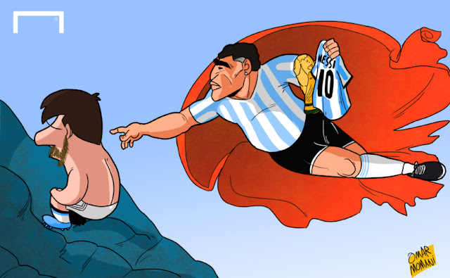 Maradona urges Messi to stay with Argentina