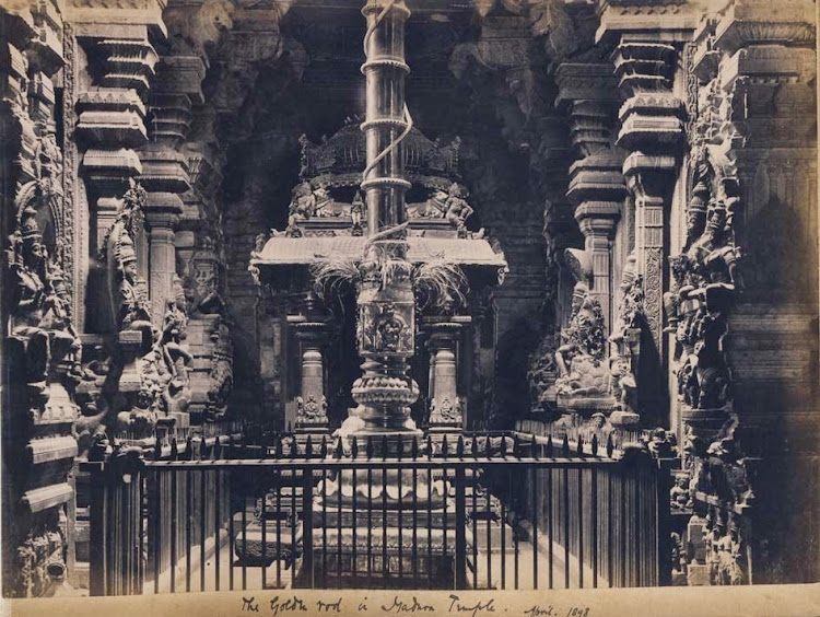 The Golden rod in Madurai Temple - April 1898