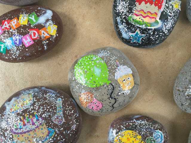 kindergarten birthday keepsake rock