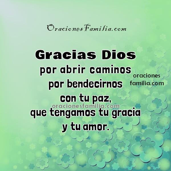 Oraciones con imágenes de buenos días, oración de la mañana, frases de oración a Dios por Mery Bracho.