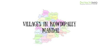 Kowdipally Mandal with villages
