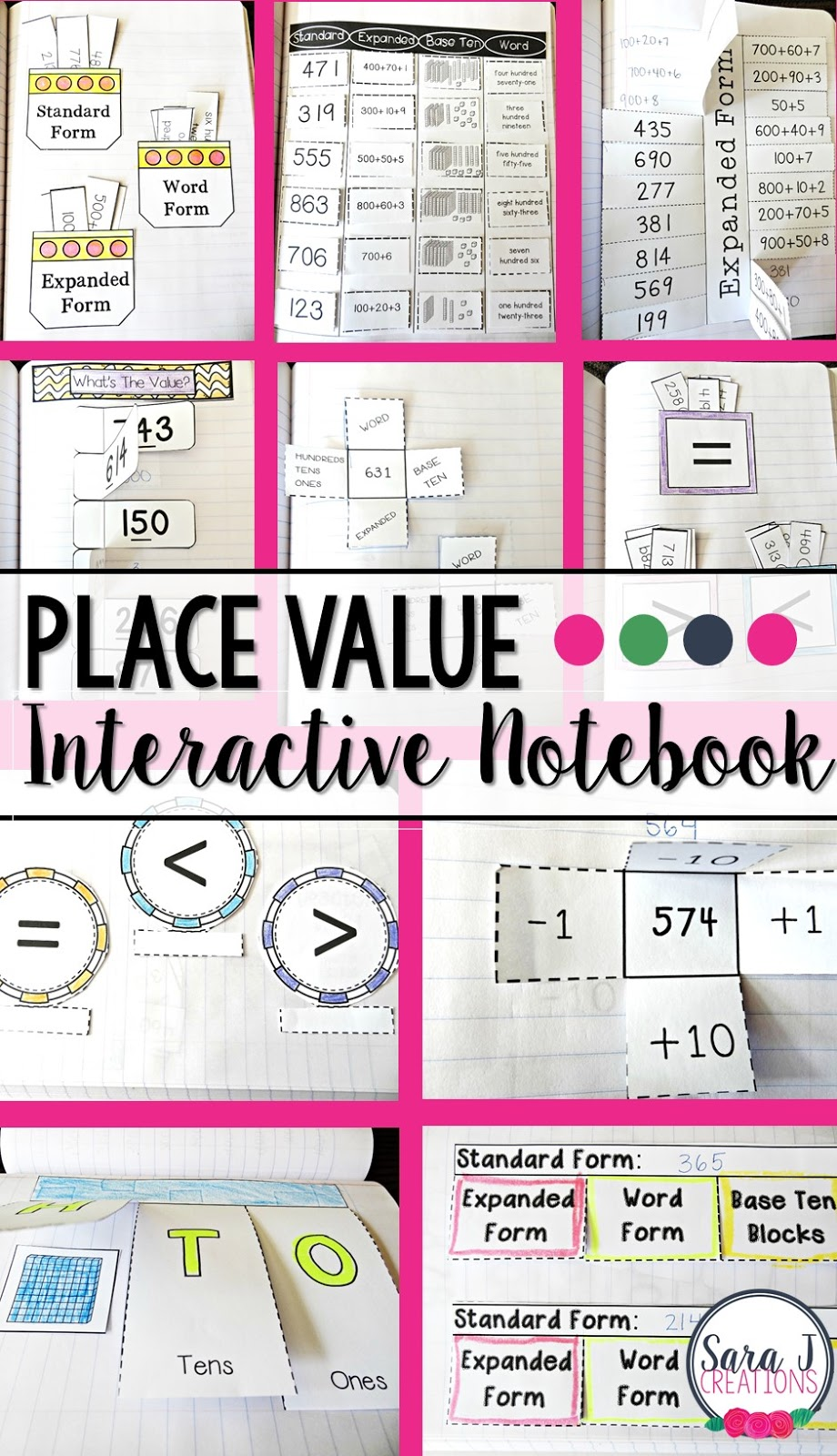 I love this math interactive notebook for place value.  Ideal for 2nd grade but could be used in so many different ways.