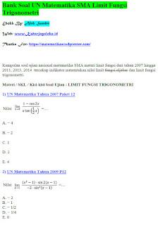 [PDF] Ebook Gratis Soal dan Pembahasan Limit Fungsi Trigonometri