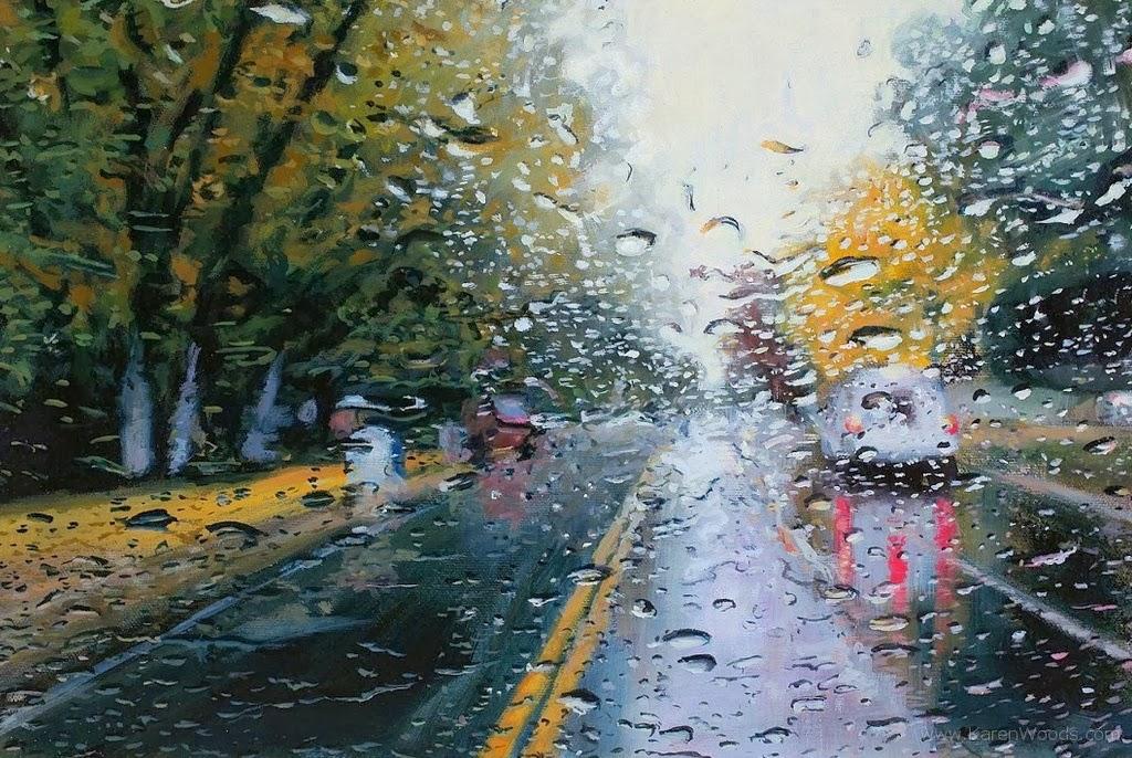 Imágenes Arte Pinturas: Paisajes De Ciudades Con Carros