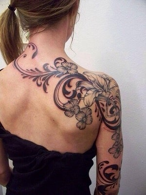 side neck tattoo