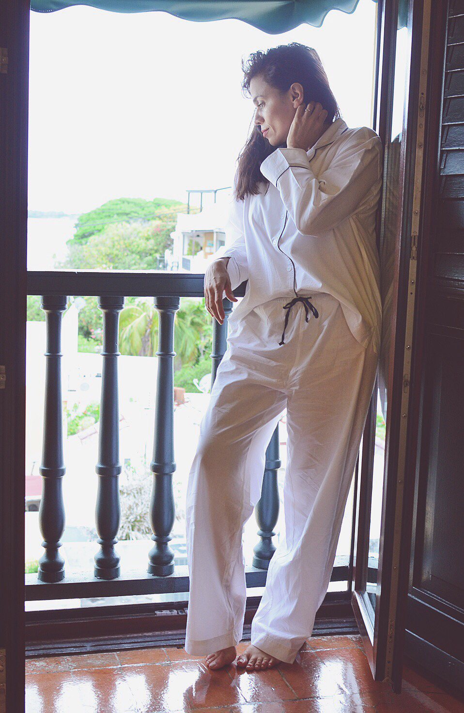 White pajamas