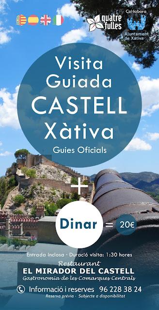 comida y visita Castillo de Xàtiva