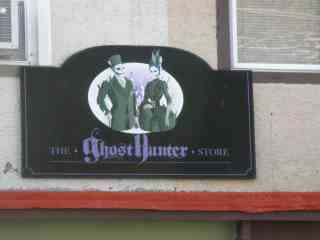 Ghost Hunter sign above entrance