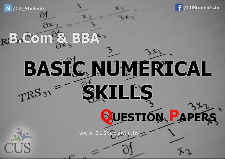 B.Com & BBA - Basic Numerical Skills (BNS) Previous Question Papers
