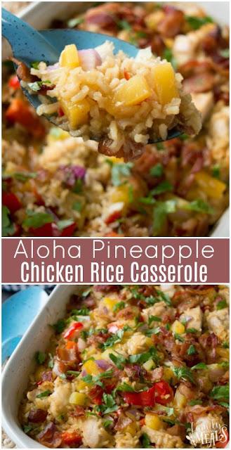 Aloha Píneapple Chícken Ríce Casserole