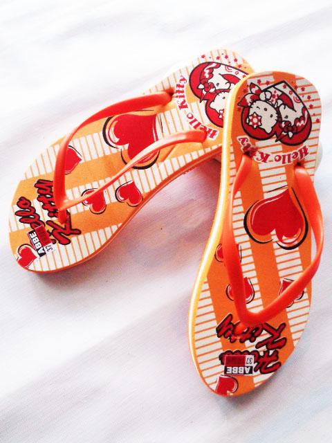 Sandal SPON Jepit ABBE LOVE orange