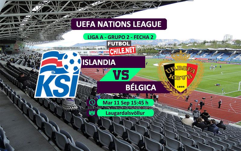 Mira Islandia vs Bélgica en vivo y online por la Segunda Fecha del Grupo 2 de la Liga A de UEFA Nations League