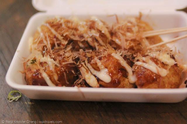 Takoyaki in Dotonbori, Osaka
