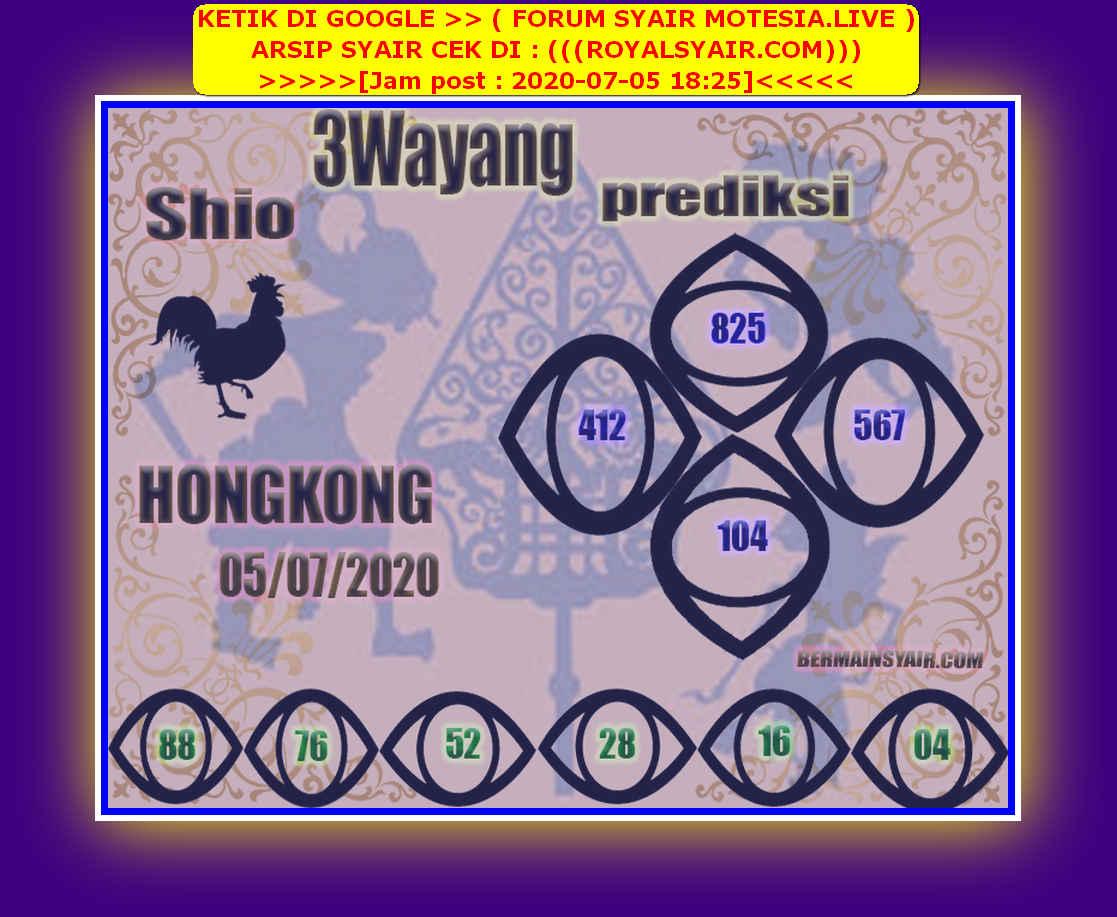 Kode syair Hongkong Minggu 5 Juli 2020 127