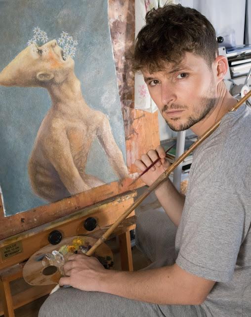 retrato susano correia pintando arte