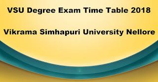 Manabadi VSU Degree Time Table 2018 Download, Schools9 VSU UG Time Table 2018