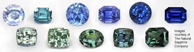 đá sapphire xanh