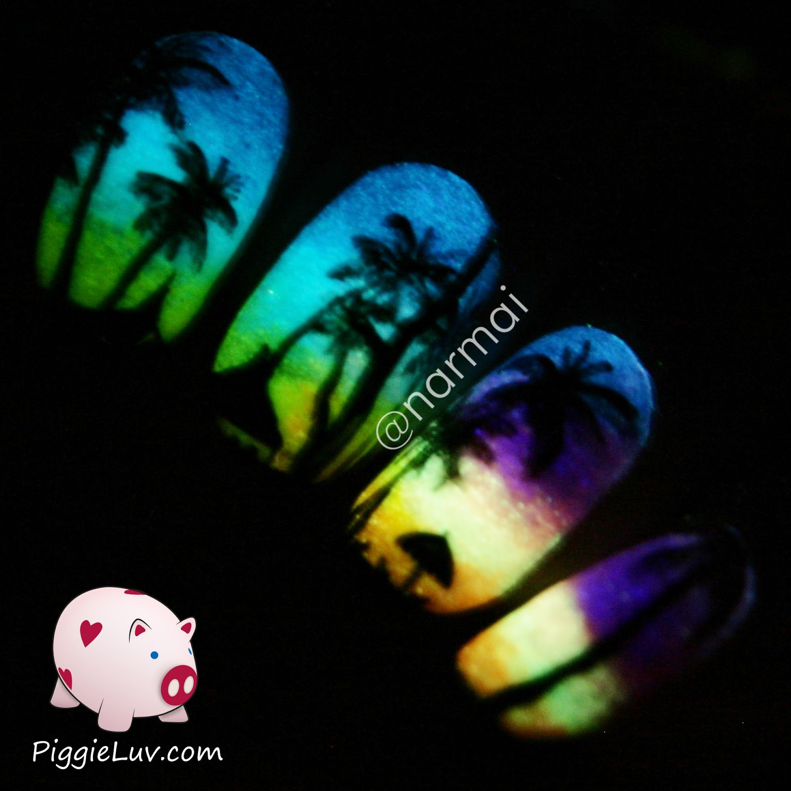 PiggieLuv: 5 tips for taking glow in the dark nail photos!