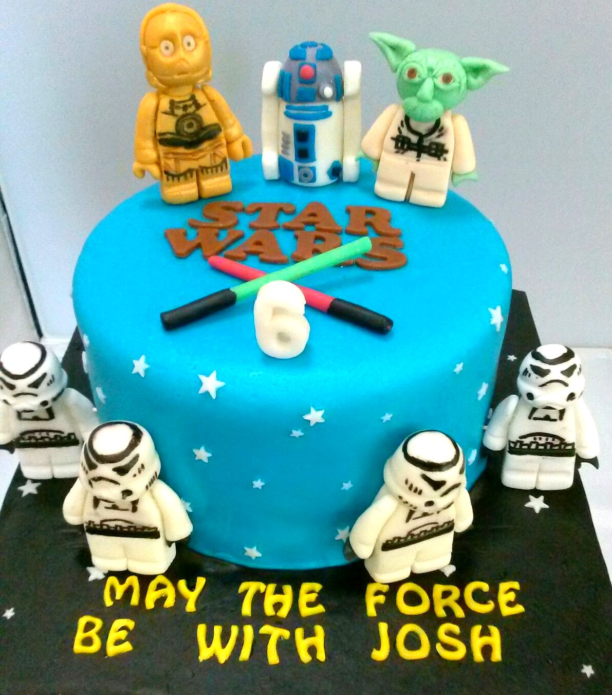 For A 6 Year Old Boy Who Is Crazy Over Starwars 2 Birthday Cakes Separate Occasions