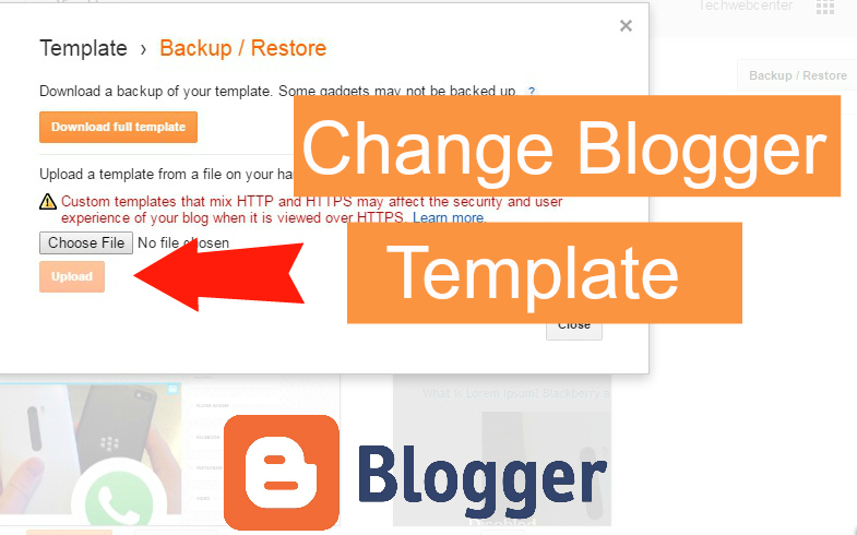 Techwebcenter change template how to change blogger template pronofoot35fo Images