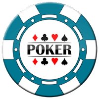 light blue poker chip