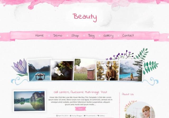 Beauty Kişisel Türkçe  Blogger Teması