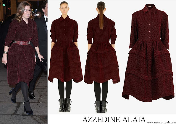 Princess Beatrice wore Azzedine Alaia Knee-length shirt-dress