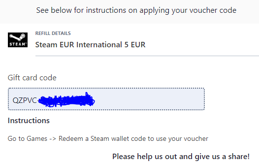 P O D 5 Euro Steam Gift Giveaway