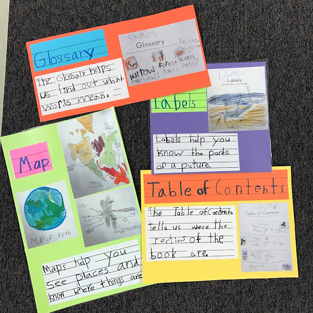 nonfiction text features interactive writing