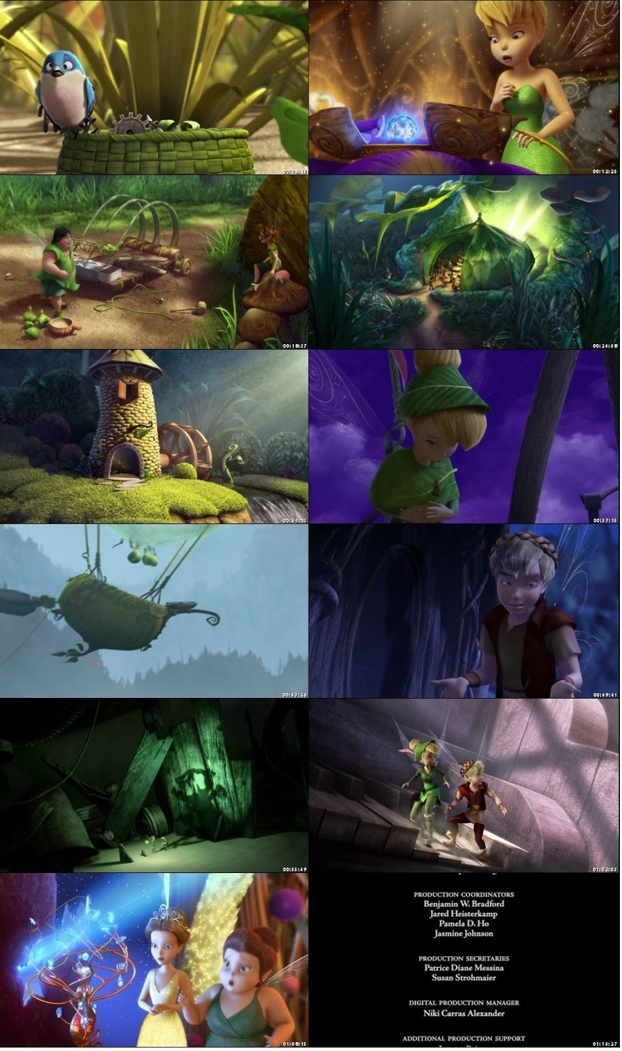 Screen Shot Of Tinker Bell and the Lost Treasure 2009 In Hindi English Dual Audio Bluray