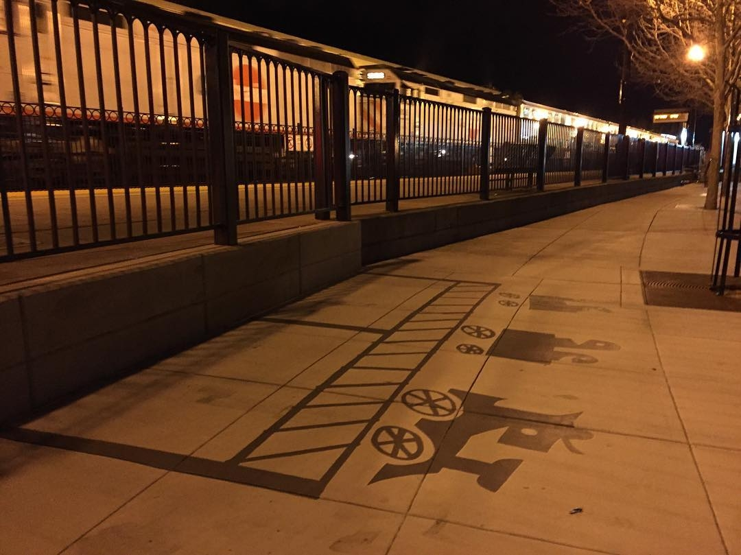 08-Train-Station-Rail-Damon-Belanger-Inventive-Surreal-Shadow-Paintings-come-Alive-www-designstack-co