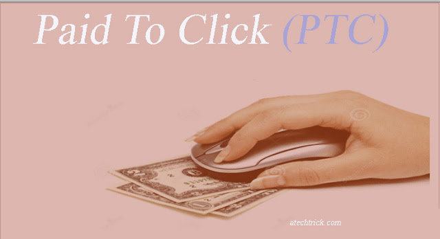 from Paid to click, make money online without investment