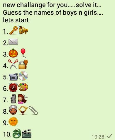 Guess the names of boys n girls