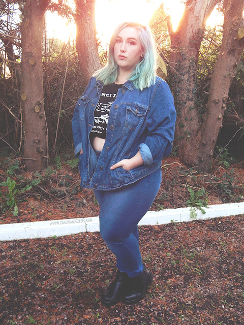 Double Denim Plus Size Autumn Outfit Of The Day