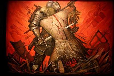 "Pintura ""El Abrazo"" de Jorge Gonzalez Camarena."