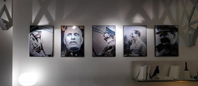 Cinq photographies de la série Eva et les dictateurs