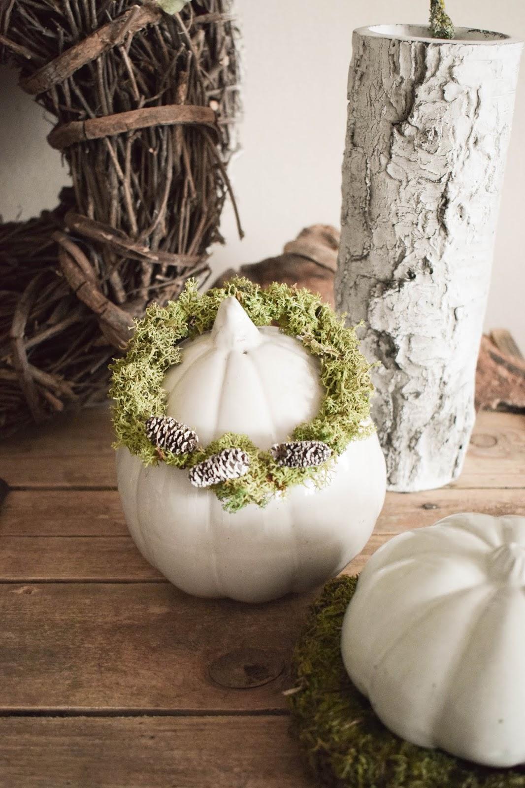 Anleitung Kranz binden aus Moos für den Herbst und Winter. DIY Dekoration basteln einfach selbermachen: Naturmaterialien basteln 6