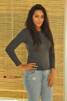 Actress Bhanu Tripathri Pos in Ripped Jeans at Iddari Madhya 18 Movie Pressmeet  0034.JPG