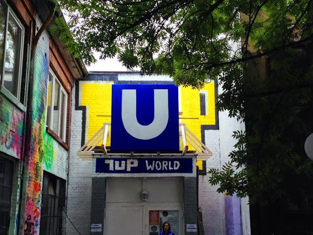 Berliner Ubahn 1UP Open Gallery urban Spree Urban Media spree Deutschland verrecke